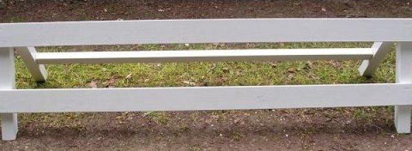 Dressuur hekje hout