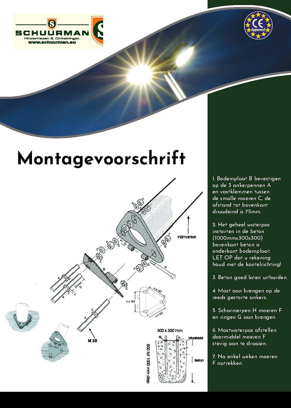 Brochure-montagevoorschrift